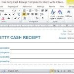 Detailed Petty Cash Receipt Template