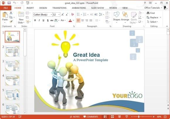 Great Idea PowerPoint Template