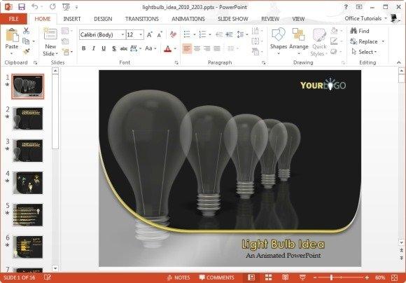 Light Bulb Idea PowerPoint Template