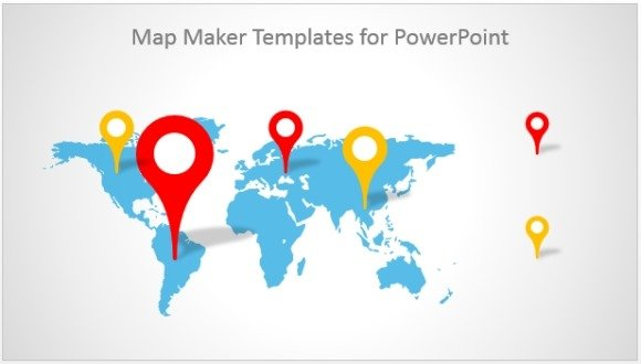 best map maker templates for powerpoint, Modern powerpoint