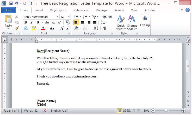 Free PowerPoint Templates  Letter Templates In Word