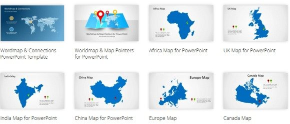 Best map maker templates for powerpoint world map powerpoint template with connectors gumiabroncs Image collections