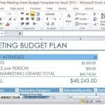 Professionally Designed Marketing Budget Plan