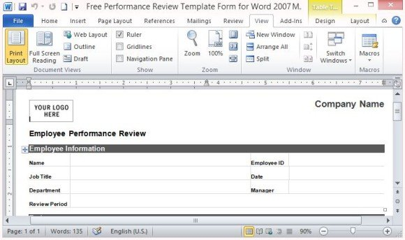 Review And Rate Employee Performance  Performance Appraisals Templates
