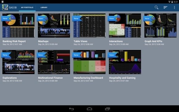 SAS Visual Analytics Android App