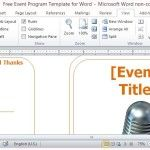 Two-fold Event Program Template