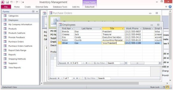 Inventory Control Forms Template For Microsoft Access