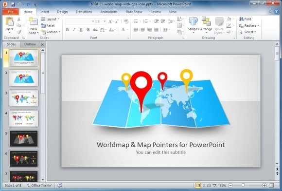 Best map maker templates for powerpoint world map with map pointers for powerpoint publicscrutiny Image collections