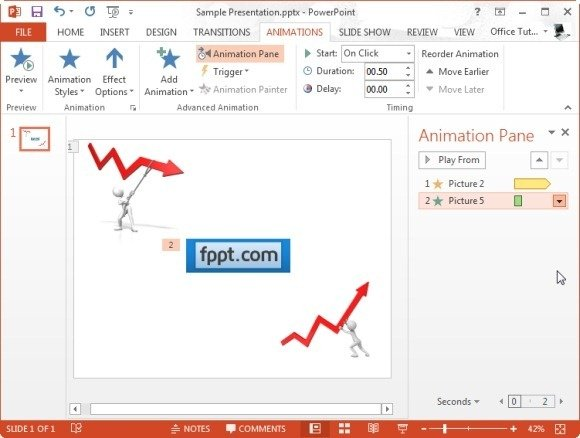 animations pane in powerpoint