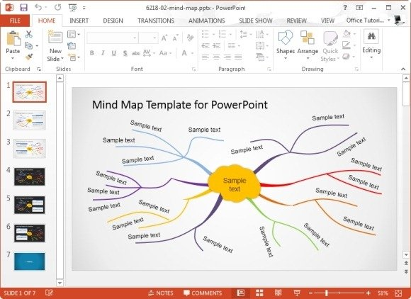 creative mind map template for microsoft powerpoint
