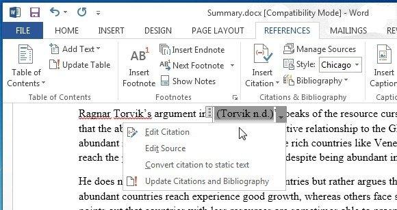 edit citation in ms word