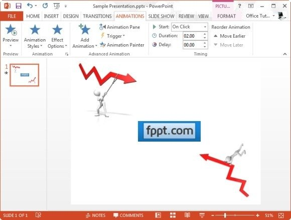 instructions for creating animated clipart in powerpoint