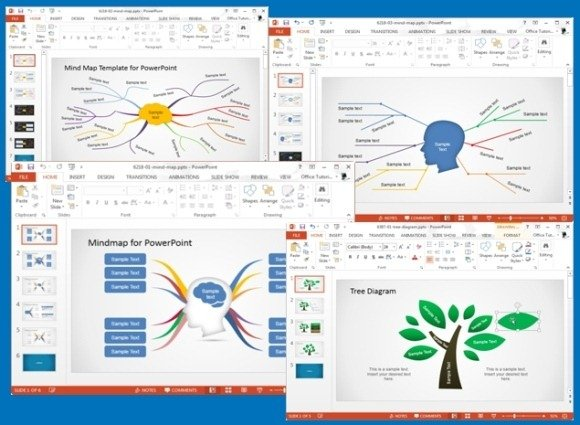 concept map templates for powerpoint, Modern powerpoint