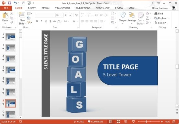 spell your topic with building blocks