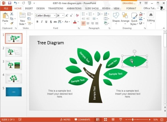 tree diagram template for microsoft powerpoint