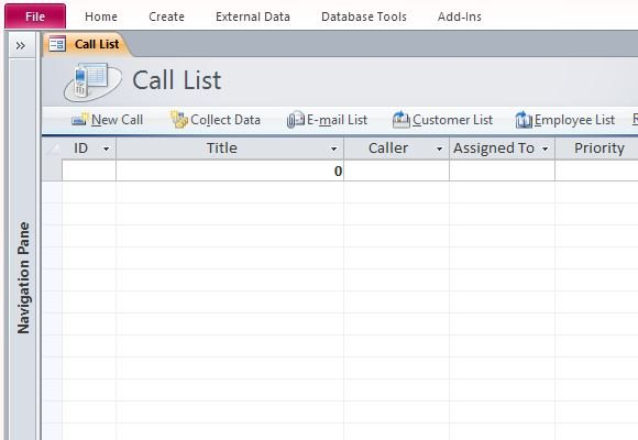 call register template - how to assign and track status of customer calls in