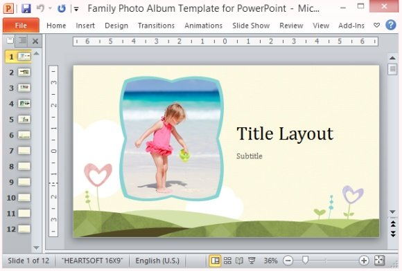 Family photo album template for powerpoint toneelgroepblik Images