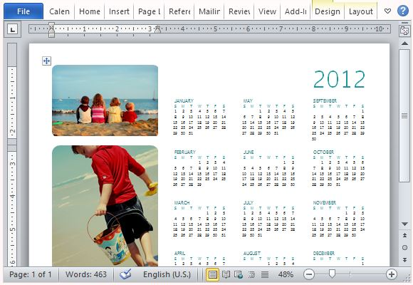create a calendar with your familys photos