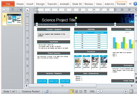 Science poster project template for powerpoint toneelgroepblik Choice Image