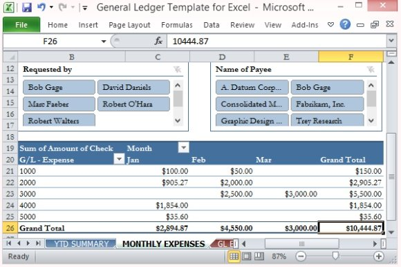 general ledger template for excel. Black Bedroom Furniture Sets. Home Design Ideas