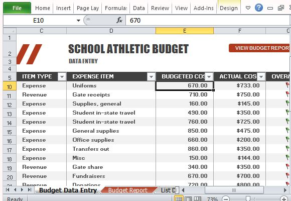 high school football program template - sports team budget template