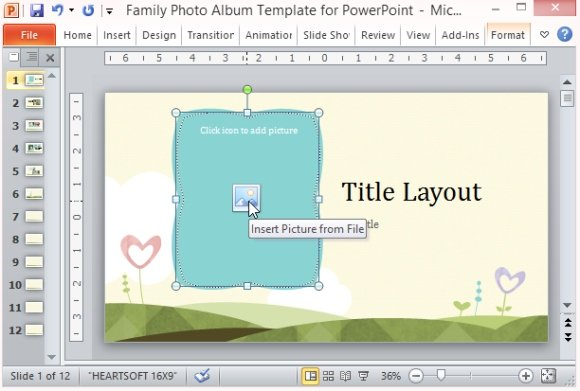 family photo album template for powerpoint, Modern powerpoint