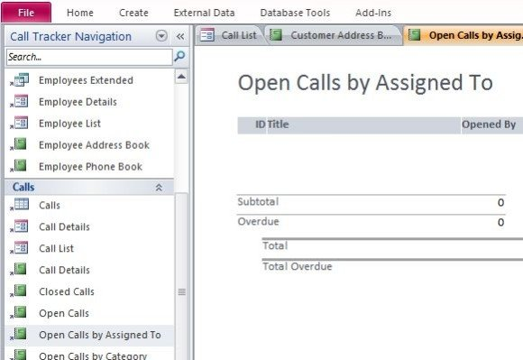 manage and track calls and call quality this access tracking template