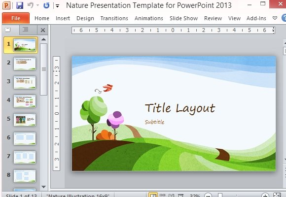 Nature presentation template for powerpoint 2013 toneelgroepblik Choice Image