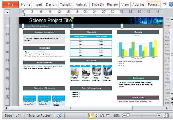 science poster project template for powerpoint, Presentation templates