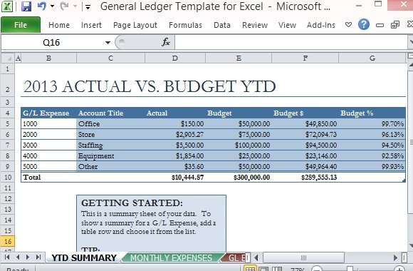 Free PowerPoint Templates  General Ledger Template