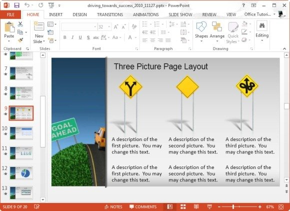 animated success template for microsoft powerpoint 2013