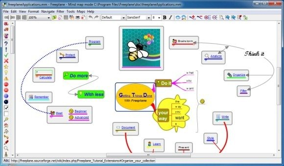 free mind mapping tools Linux