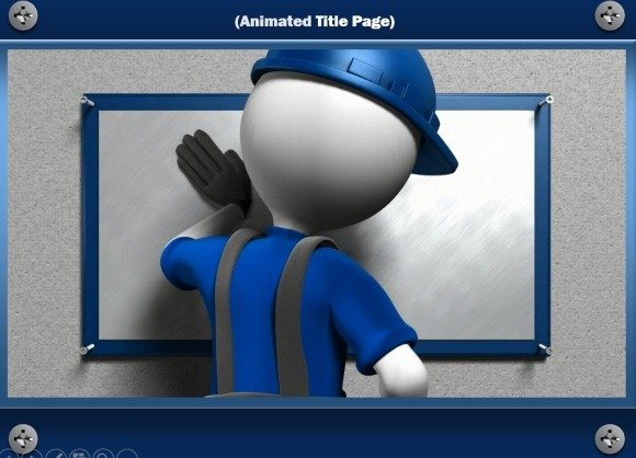 Construction powerpoint template with handyman animation handyman animation for powerpoint toneelgroepblik Images