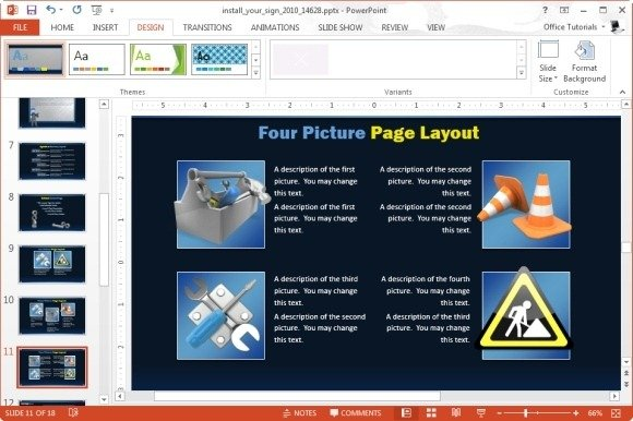 Construction PowerPoint Template With Handyman Animation