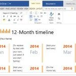 12-Month Timeline for School, Office or Personal Use