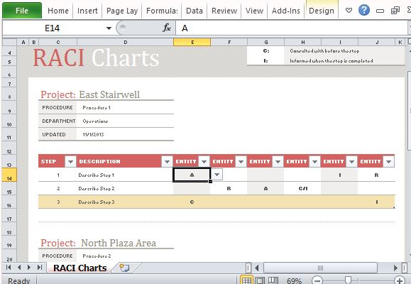 project deliverables template excel - free raci chart template for excel