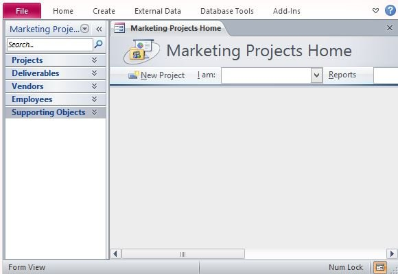 Desktop Marketing Project Management Database Template For