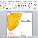 Beautiful Butterfly Report Template