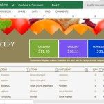 Beautiful Grocery List and Price Comparison Template