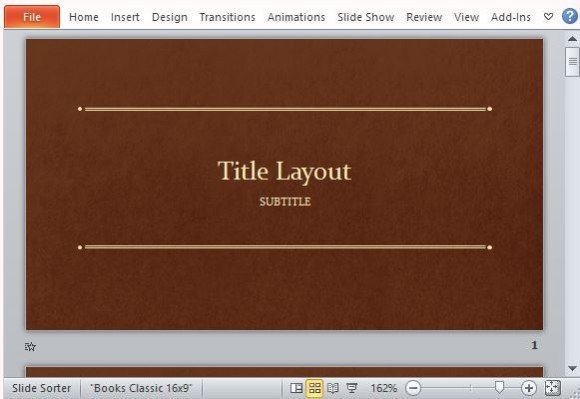 Classic book template for powerpoint toneelgroepblik