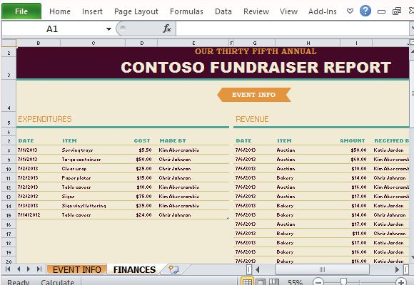 fundraising excel template koni polycode co