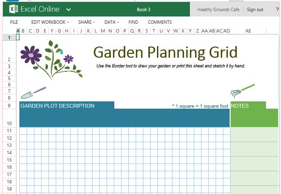 Free garden planner template for excel online for Garden layout planner free