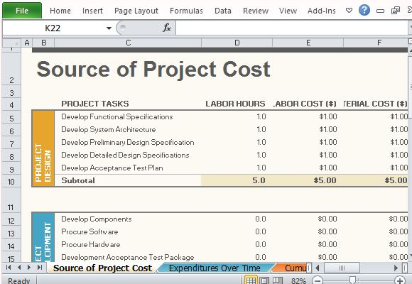 free project budget template for excel 2013