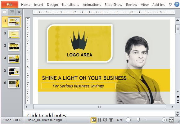 Business sales powerpoint template with video animation wajeb Gallery
