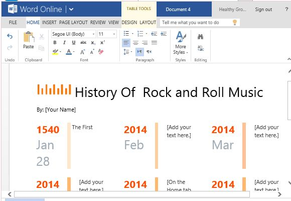 customize to show your own timeline for past present or future events