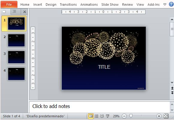 Free celebration powerpoint templates fireworks template for celebration presentations toneelgroepblik Image collections