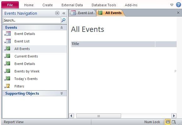 Event Management Template For Microsoft Access