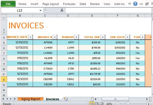 track payments in excel
