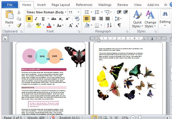 Delicieux Make Your Reports Stand Out With Colorful Butterflies