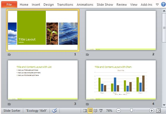 Multiple Layout Options for Your Presentation